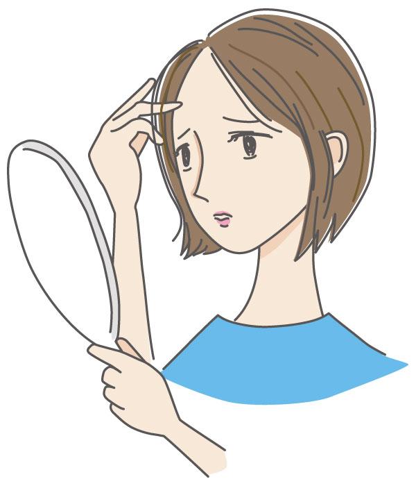 加齢により女性も薄い髪の毛になってしまいます